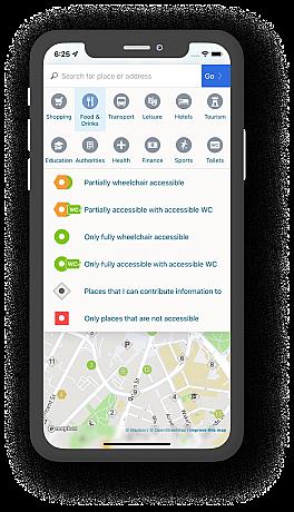 Screenshot von Wheelmap.org